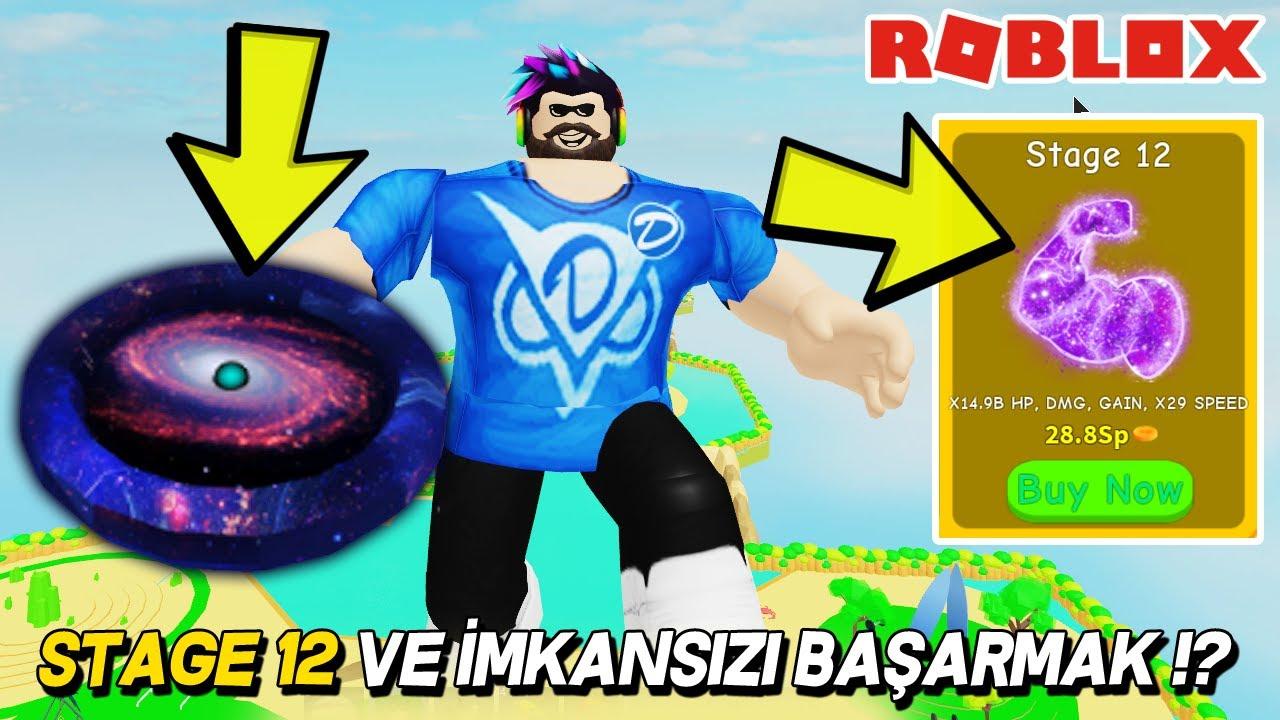 KAS GÜCÜ STAGE 12 VE İMKANSIZI BAŞARMAK !? 💪 Lifting Simulator / Roblox Türkçe