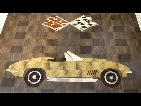 Corvette 1967 end grain decorative board