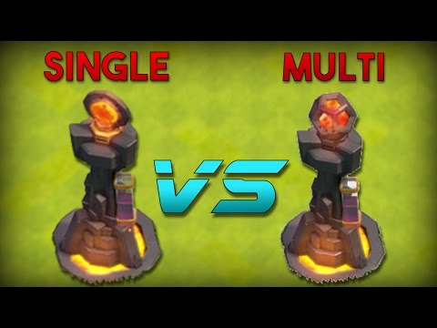 MULTIPLE vs SINGLE INFERNO TOWER! - Clash of Clans