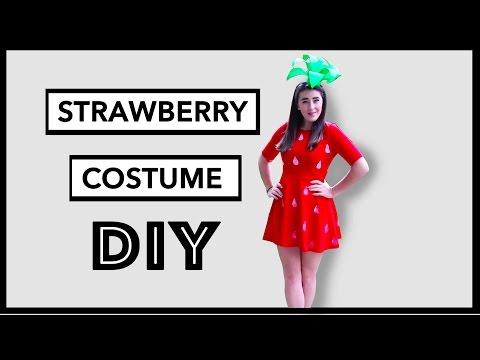 DIY Strawberry  Halloween Costume - Easy, Cute & Simple