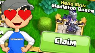Gladiator Queen Skin Unlock  Claim To All Rewards Free Hero Skin Claim In Clash of Clans Bangla