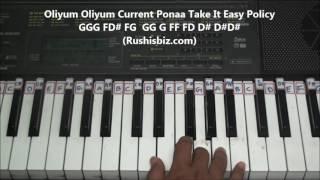 urvasi urvasi song   tamil   piano tutorials