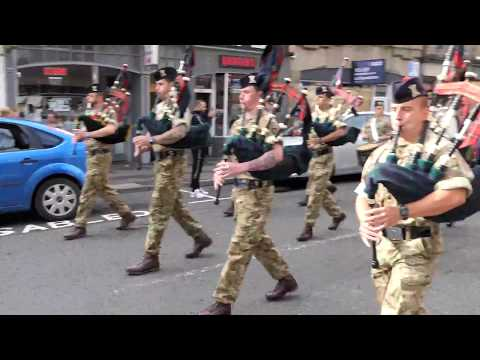 "The Black Watch Pipe Band ""Heilan' Laddie/Scotland The Brave/The Black Bear Perth 2018"