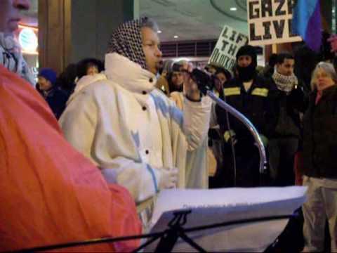 Gaza Freedom March - Luci Murphy, DC vigil for Gaz...