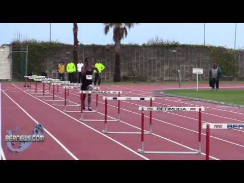 Hurdles Track & Field National Sports Centre Bermuda Feb 12th 2011