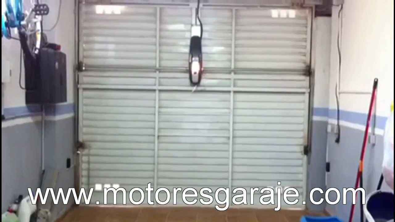 Funcionamiento motor puerta youtube - Motor puerta garaje basculante ...
