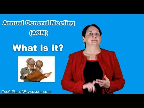 What is an Annual General Meeting (AGM)?