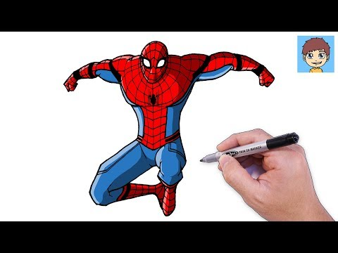 Comment dessiner facilement how to draw easy channel comment dessiner facilement how to - Dessiner spiderman facile ...
