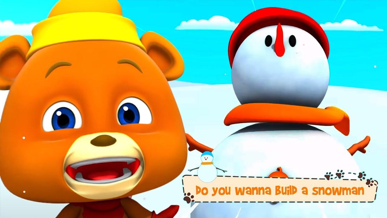Vrei să construiești un om de zăpadă - desene animate video de animație | animal haios pentru copii