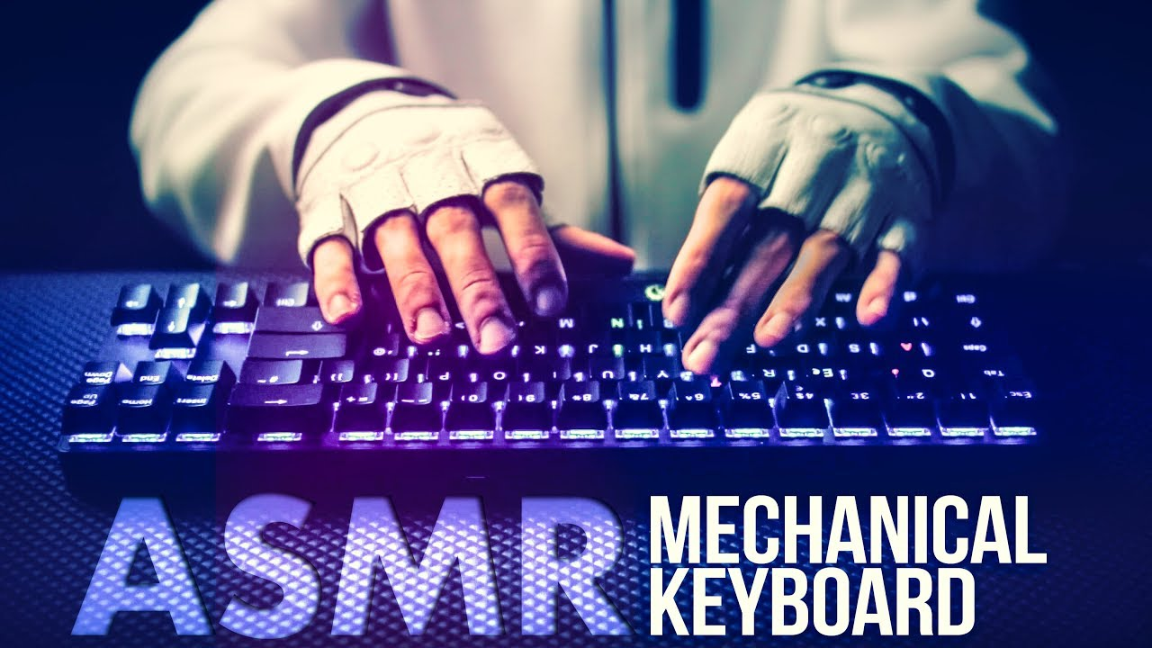ASMR Mechanical KEYBOARD ⌨️Typing / Clicking Sounds (Blue Switches)
