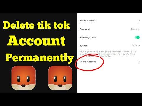 HOW TO DELETE TIK TOK ACCOUNT 2019 || tik tok account permanently kaise  delete kre