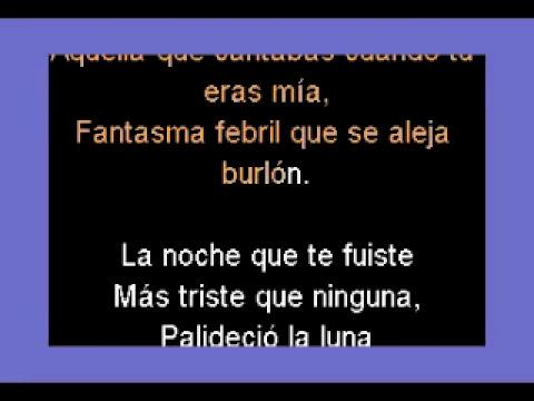 "Tango ""La noche que te fuiste"" DEMO PISTA KARAOKE"