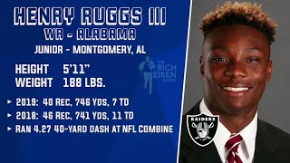 ESPN's Bill Barnwell on Henry Ruggs III Being Drafted Before Jerry Jeudy   The Rich Eisen Show