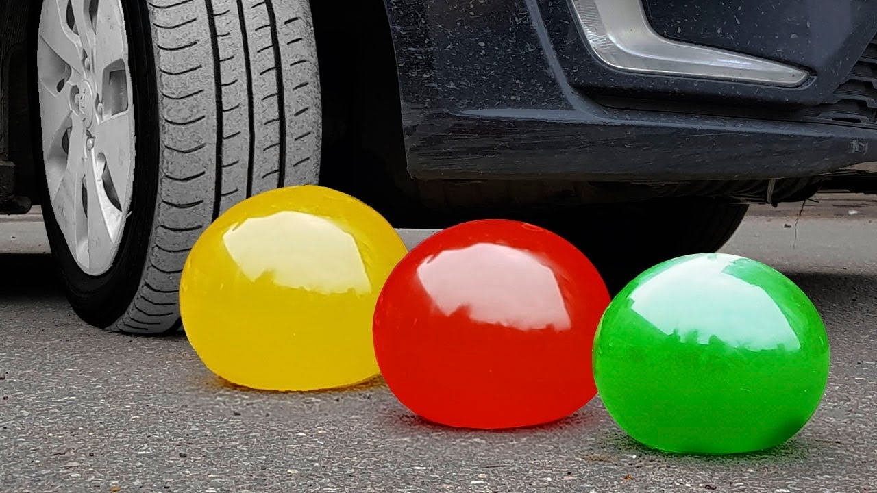 Experiment: Car Vs Jelly Balloons