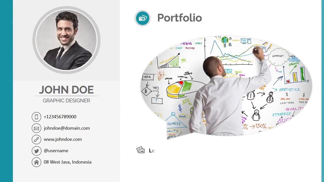 resume personal profile template