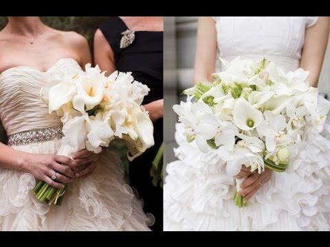 White Calla Lilies Bouquet Wedding Youtube