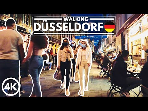 DÜSSELDORF Reopens: BUSY Saturday Night Party People, Outsid