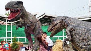 น้องบีม | เอาชีวิตรอดจากไดโนเสาร์ที่บิ๊กซีบ้านโป่ง Dinosaur
