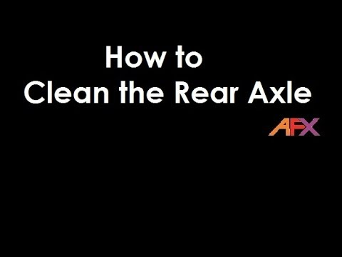 How to Clean an AFX slot car's Rear Axle