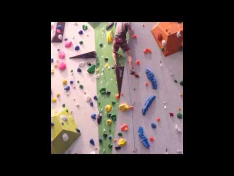 Klettern 7a+ Nordwandhalle