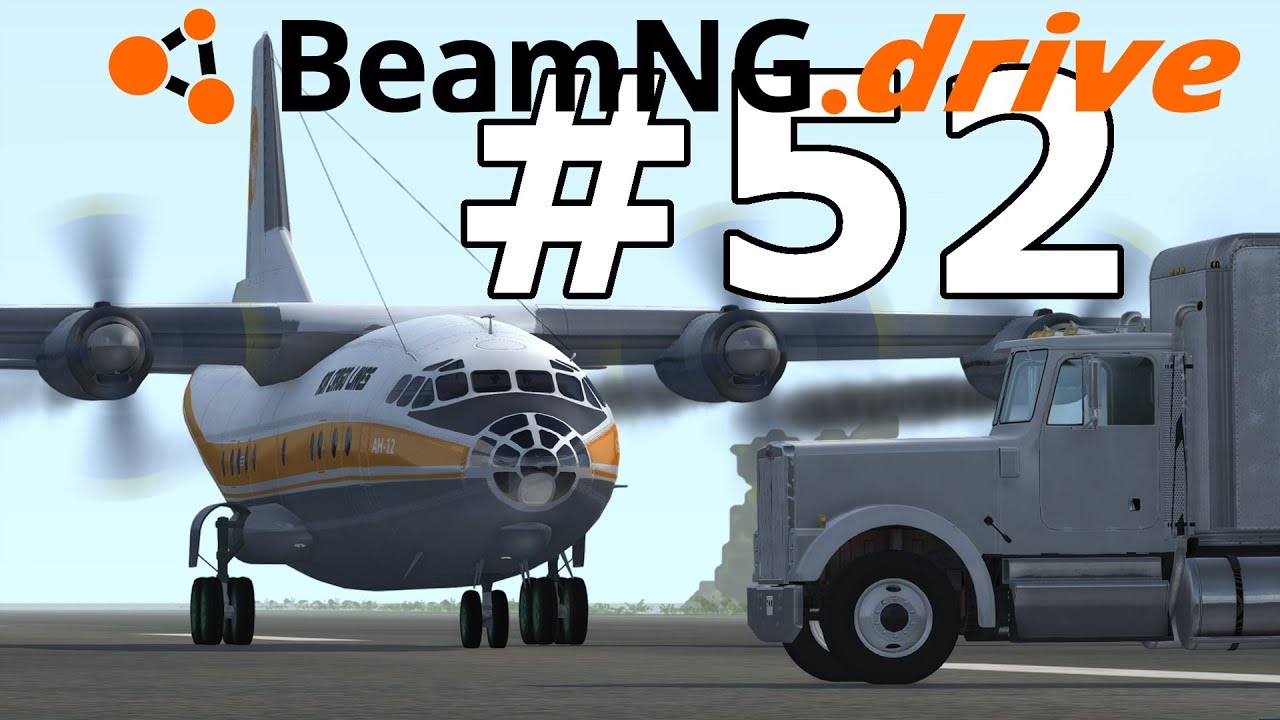 BeamNG.drive (#52) - OGROMNY SAMOLOT Z KOMORĄ NA POJAZDY ✈️