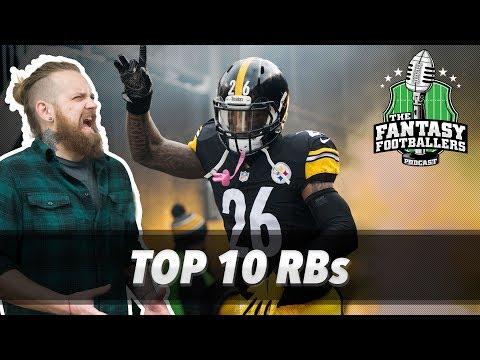 Fantasy Football 2017 - Top 10 Running Backs + ADP Price Check - Ep. #409
