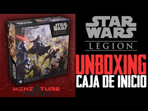 STAR WARS LEGION 😮 UNBOXING del STARTER SET - CORE BOX - CAJA DE INICIO