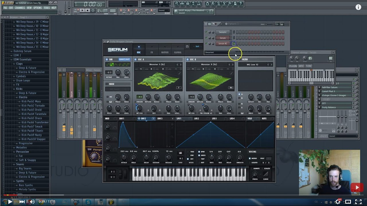 How to Dubstep: Dirty / Skrillex Serum Bass Sounds FL Studio Tutorial +  Free Presets, FLP, Samples