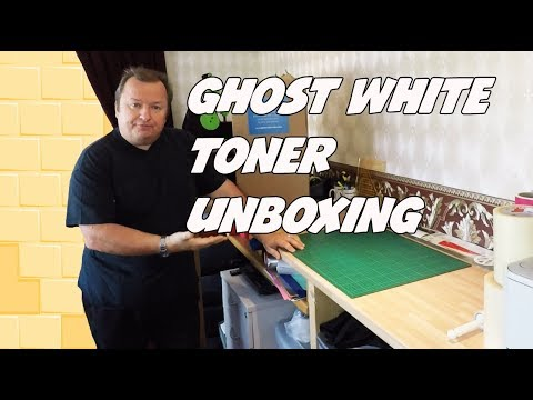 The Ghost White Toner Laser Printer System Unboxing Video For T Shirt Printing
