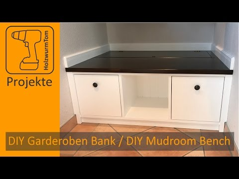 DIY Garderoben Bank / DIY Mudroom Storage Bench (with english subtitle)