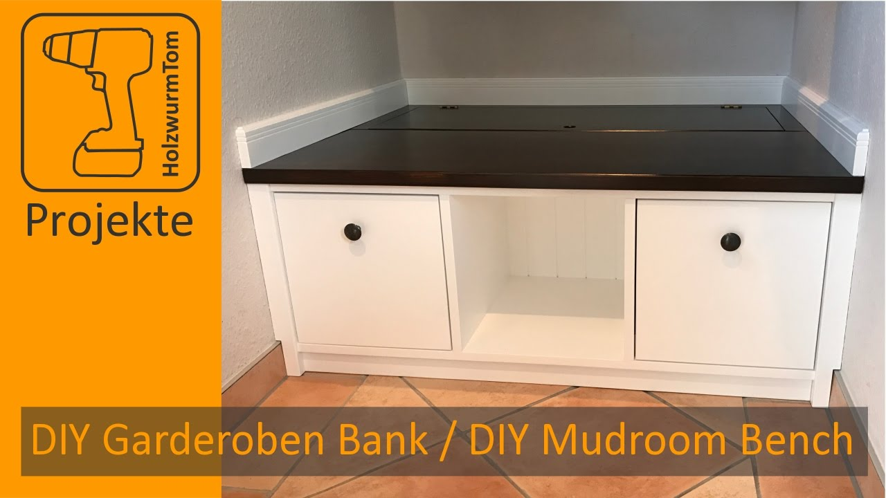 diy garderoben sitzbank diy mudroom storage bench with english subtitle