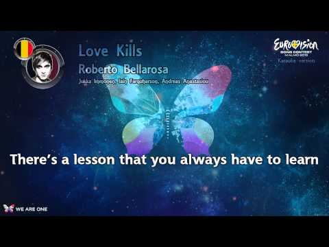 "Roberto Bellarosa - ""Love Kills"" (Belgium) - Karaoke version"