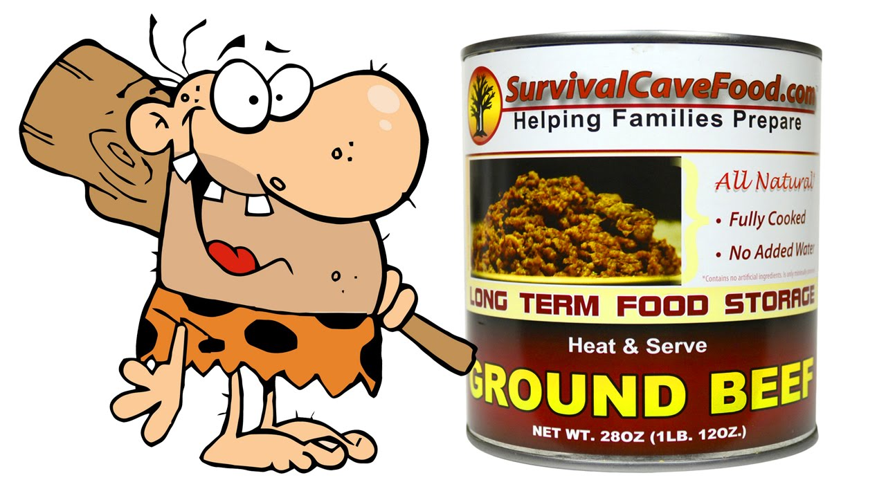 Caveman Meat : Caveman survival meat food review youtube