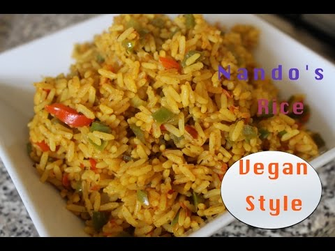 HOW TO COOK NANDO'S RICE VEGAN STYLE