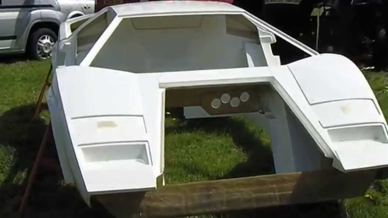 replica lamborghini countach in build - youtube