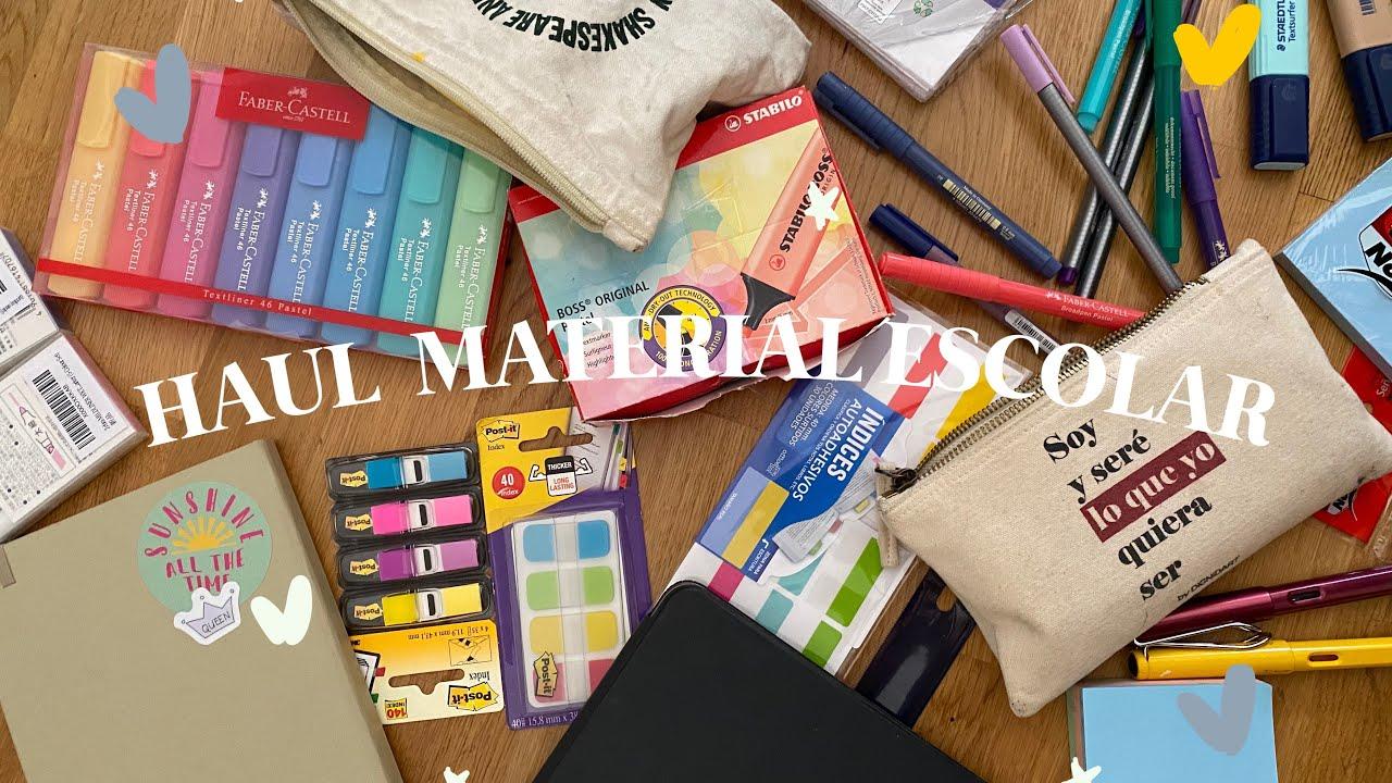 HAUL MATERIAL ESCOLAR 2020 | clases online y último curso