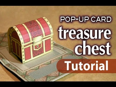 Tutorial Pop Up Card Treasure Chest FREE Template