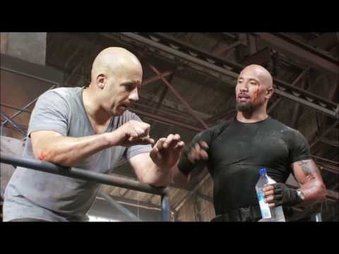 Dwayne ''the rock'' Johnson vs Vin Diesel Fight ''Fast & Furious 5'' behind the scenes