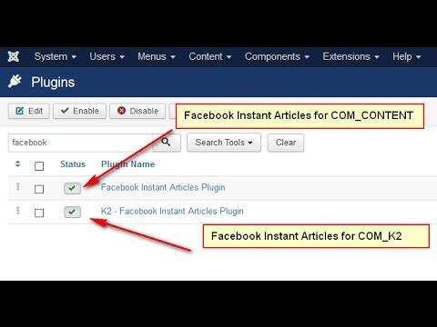 Facebook Instant Articles For Joomla Component - Plugin