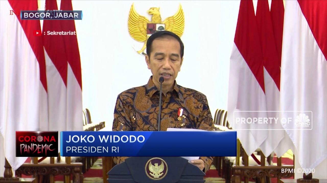 Jokowi Imbau Masyarakat Kerja & Ibadah di Rumah - YouTube