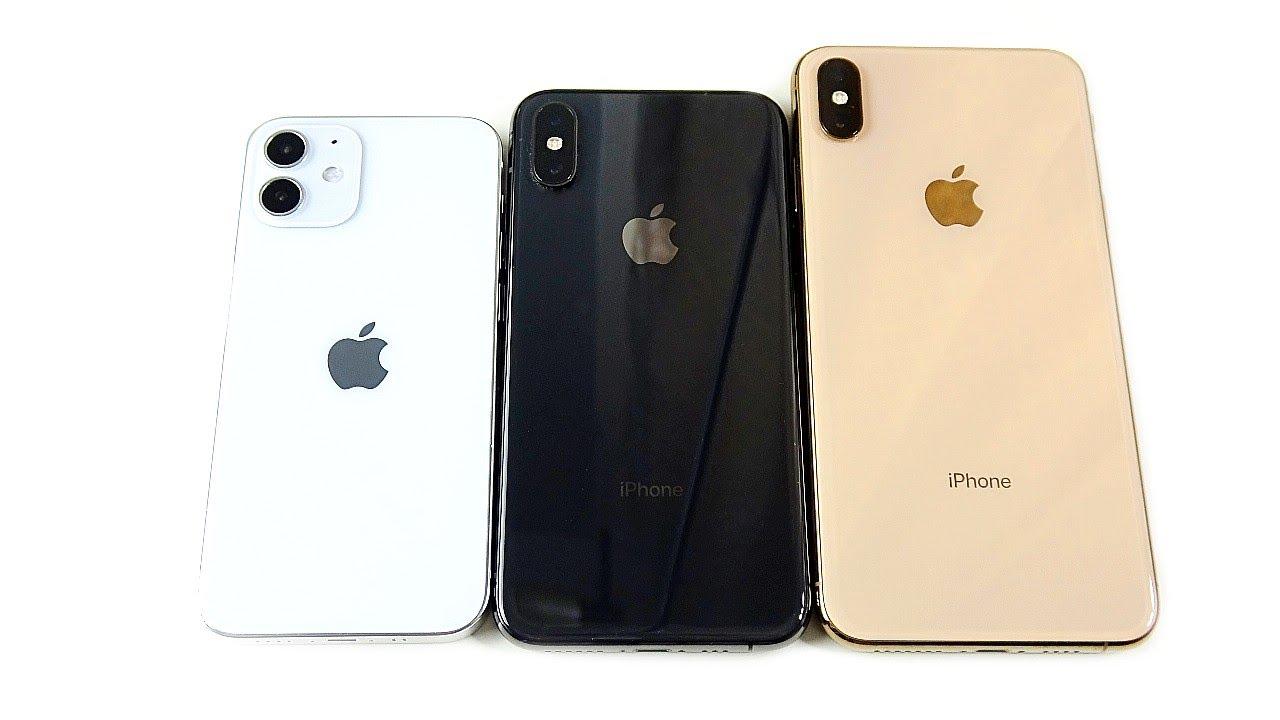 Iphone 12 Mini Vs Iphone Xs Vs Iphone Xs Max Size Comparison Youtube