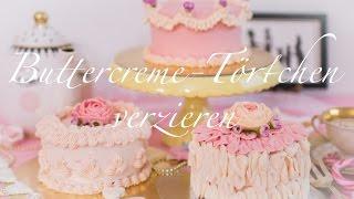 Torten dekorieren | Anleitung Torten verzieren mit Buttercreme