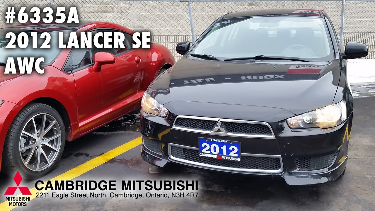 USED MITSUBISHI LANCER SE AWC A Cambridge Mitsubishi - Mitsubishi cambridge