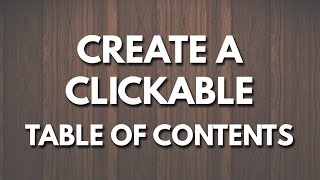 Create a Clickable Table of Contents in Microsoft Word