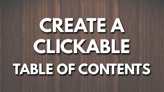 Erstellen Sie einen Anklickbaren Inhaltsverzeichnis in Microsoft Word
