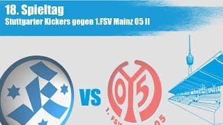 18. Spieltag, Stuttgarter Kickers vs. 1. FSV Mainz 05 II - Spielbericht+Interviews