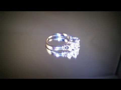 Certified Zales Princess Diamond Platinum Engagement Ring
