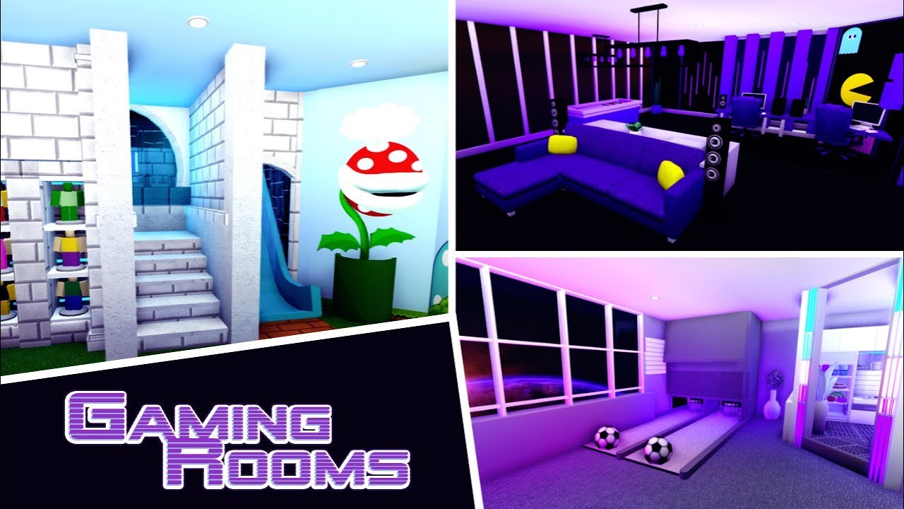 Bloxburg Themed Builds Gaming Rooms Youtube