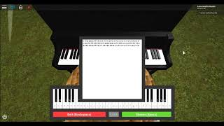 Faded roblox piano( look in desc for notes)