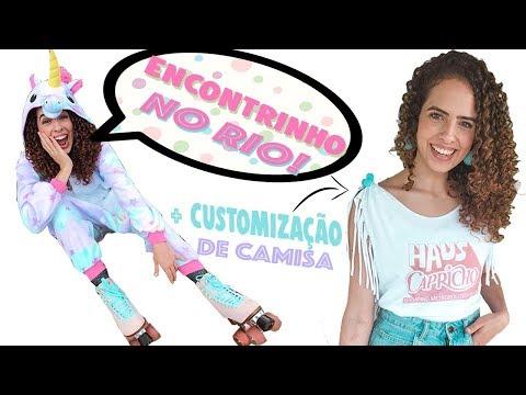CUSTOMIZAÇÃO DE CAMISA + ENCONTRINHO NO RIO DE JANEIRO!!! Vamos nos amaaaar! Paula Stephânia